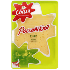 "Lithuanian cheese ""Russian"" (sliced) 150g"