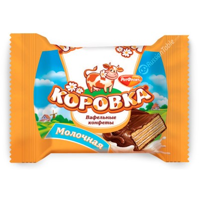 "Wafer Candies ""Korovka"" (Milk Taste)"