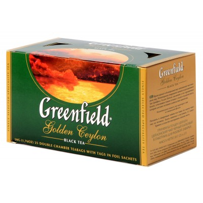 "Greenfield Black Tea ""Golden Ceylon"" 25 pak"