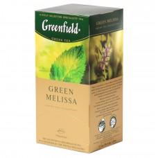 """Greenfield Green Tea """"Green Melissa"""" 25 bags"""