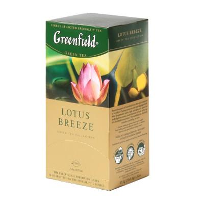 "Greenfield Green Tea ""Lotus Breeze"" 25 bags"
