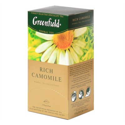 "Greenfield Herbal Tea ""Rich Camomile"" 25 bags"