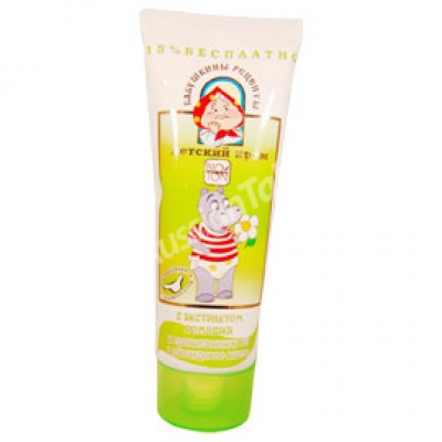 Children cream with camomile extract