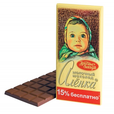 "Imported Russian Milk Chocolate ""Alionka"" 200g"