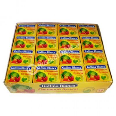 "Vegetable Bouillon ""Gallina Blanca"" 48 Cubes"