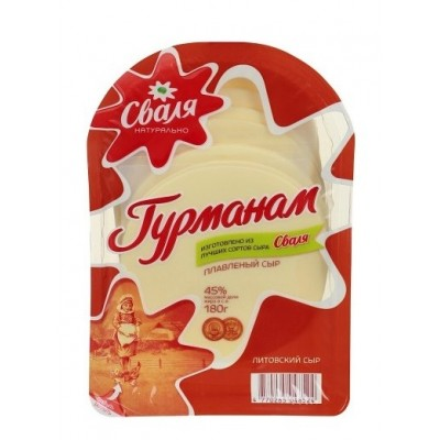 "Lithuanian cheese ""Gourmanam"" Creamy (sliced) 180g"