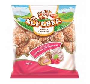 """Gingerbread """"Korovka"""" with Raspberry Cream Filling"""
