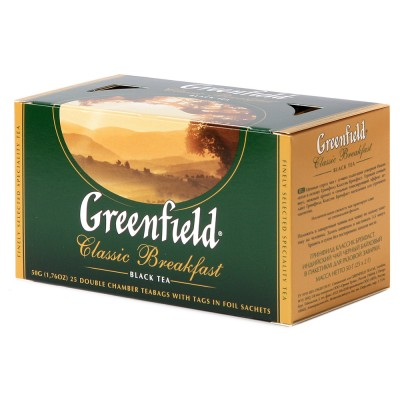 "Greenfield Black Tea ""Classic Breakfast"" 25 bags"
