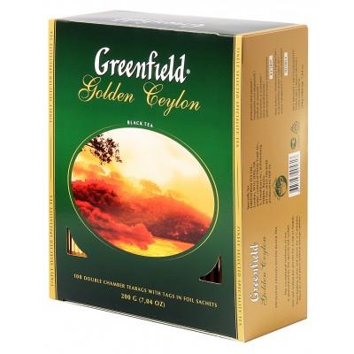 "Greenfield Black Tea ""Golden Ceylon"" 100 bags"