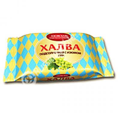 "Sunflower halva ""AZOV"" with raisins 350 g"