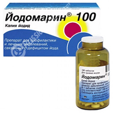 Yodomarin 100tab (treatment and prevention of diseases of the thyroid gland)