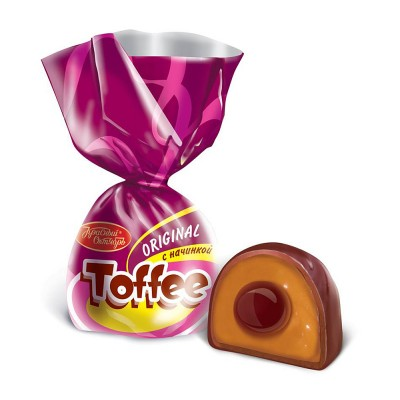 "Candy ""Toffee Original"" with caramel filling"