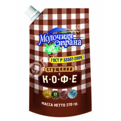 "Condensed Milk with Coffee ""Molochnaya Strana"" 270g"