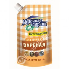 "Imported Russian Cooked Condensed Milk ""Molochnaya Strana"""