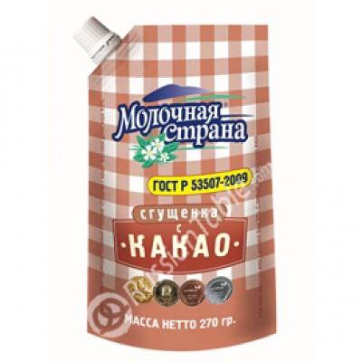 "Condensed Milk with Cocoa ""Molochnaya Strana"" 270g"
