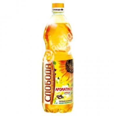"""Sunflower oil """"Sloboda"""" aromatic unrefined 1L"""