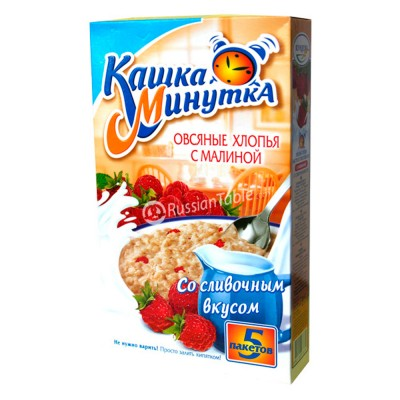 "Oat Flakes ""Kasha Minutka"" with Raspberry (creamy taste)"