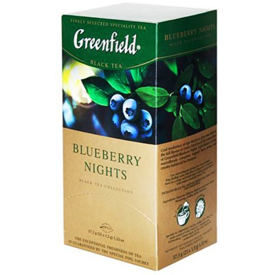 "Greenfield Black Tea ""Blueberry Nights"" 25pak"