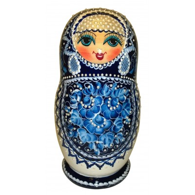 "Wooden figure ""Matreshka"" with natural honey"