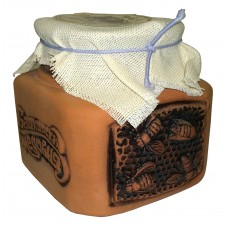 "Honey ""Bashkirskaya medovnya"" in ceramic barrel"