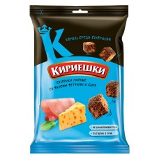 "Rye-wheat croutons ""Kirieshki""  with ham with cheese flavour 100g"