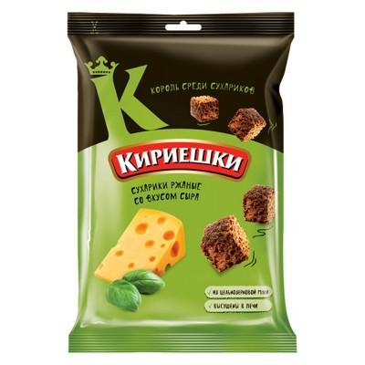 "Rye-wheat croutons ""Kirieshki"" with cheese flavour"