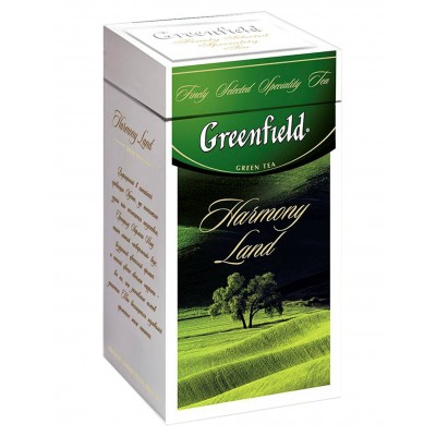 "Greenfield Green Tea ""Harmony Land"" (metal tin)"