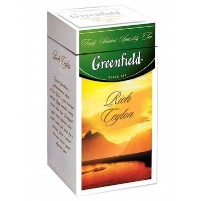 "Greenfield Black Tea ""Rich Ceylon"" (metal tin)"