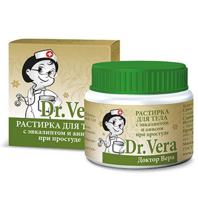 "Rubbing (rastirka) body ""Dr. Vera"" with eucalyptus and anise"