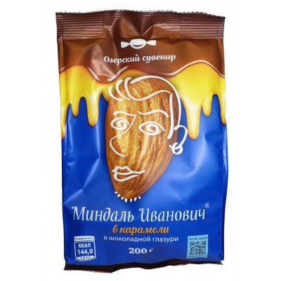 "Candy ""Almond Ivanovich"" in caramel 200gr"