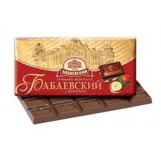 "Imported Russian Chocolate ""Babaevskiy"" with hazelnuts"