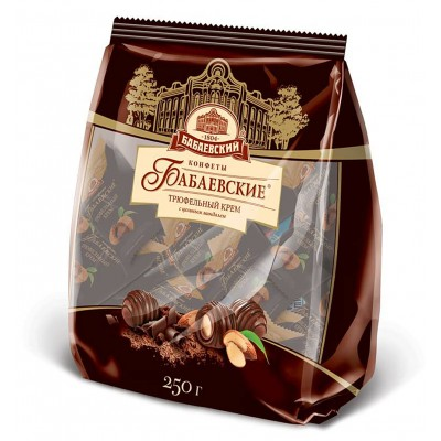 "Candy ""Babaevskie"" truffle cream with whole almonds 200gr"