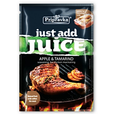 "Seasoning ""Just add juice"" Apple & tamarind for chicken marinating"