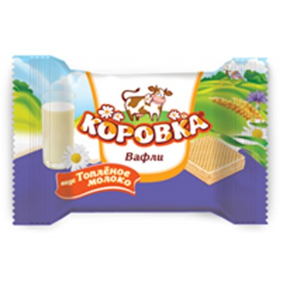 "Wafer snaсks ""Korovka - mini""  Milk taste"