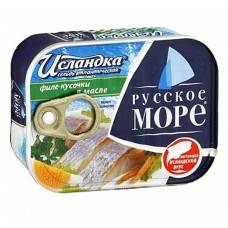 "Atlantic Herring (fillet sliced in oil) ""Icelander"" 200g"