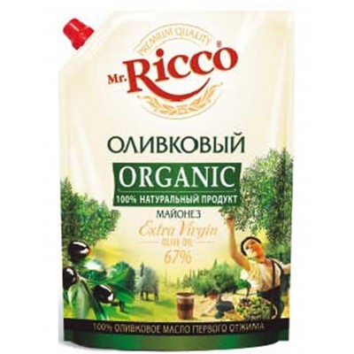 "Mayonnaise ""Mr. Ricco Olive"" 800gr"