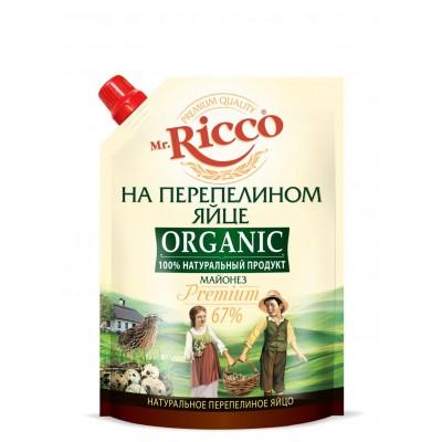 "Mayonnaise ""Mr. Ricco Organic"" on quail egg Premium 800 ml"