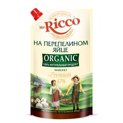 "Mayonnaise ""Mr. Ricco Organic"" on quail egg Premium 400 ml"