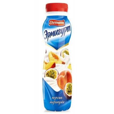 Ermigurt drinking Peach-Passionfruit