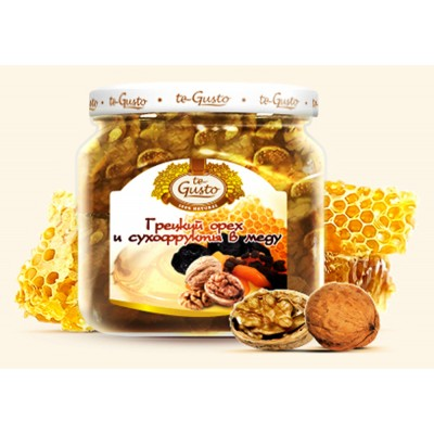 "Walnuts and dried fruit in honey ""te Gusto"""