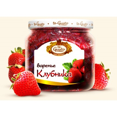 "Russian Jam ""te Gusto"" ""Strawberries"""