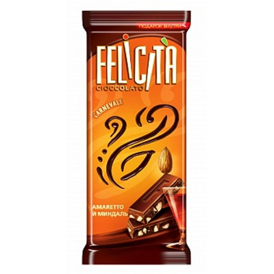 "Milk chocolate ""Felicita Carnevale"" Amaretto and almonds"