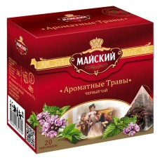 """Black tea """"May"""" Aromatic herbs (20 count)"""