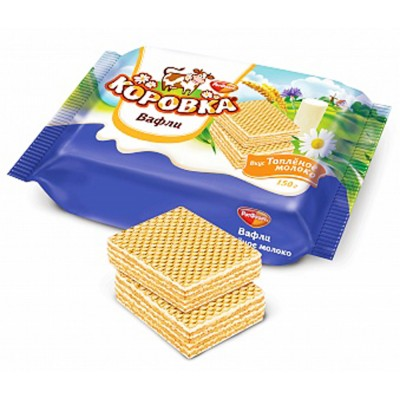 "Importred Russian Wafers ""Korovka"" Baked Milk 300gr"