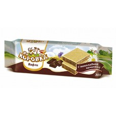 "Imported Russian Wafers ""Korovka"" with Chocolate filling 300 g"