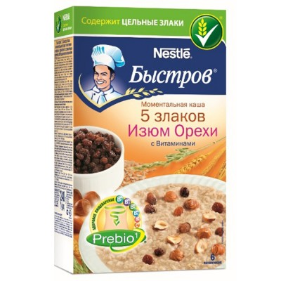 "Oat flakes ""Bistrov"" 5 cereals Raisins Nuts"