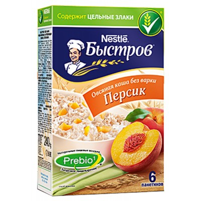 "Oat flakes ""Bistrov"" Peach"