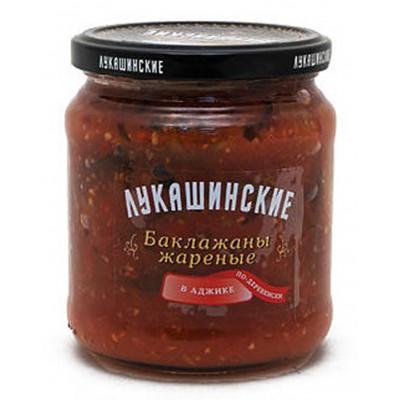 """Fried Eggplant """"Lukashinskie"""" in adzhika"""