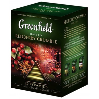 "Greenfield Black Tea ""Redberry Crumble"" 20 pak"
