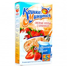 Kashka-Minutka Oat Flakes with Strawberries